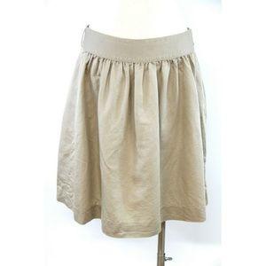 J.Crew Women's Skirt Linen Tan Beige Elastic Waist